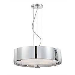Eurofase Dervish Collection 5-Light Chrome Large Pendant