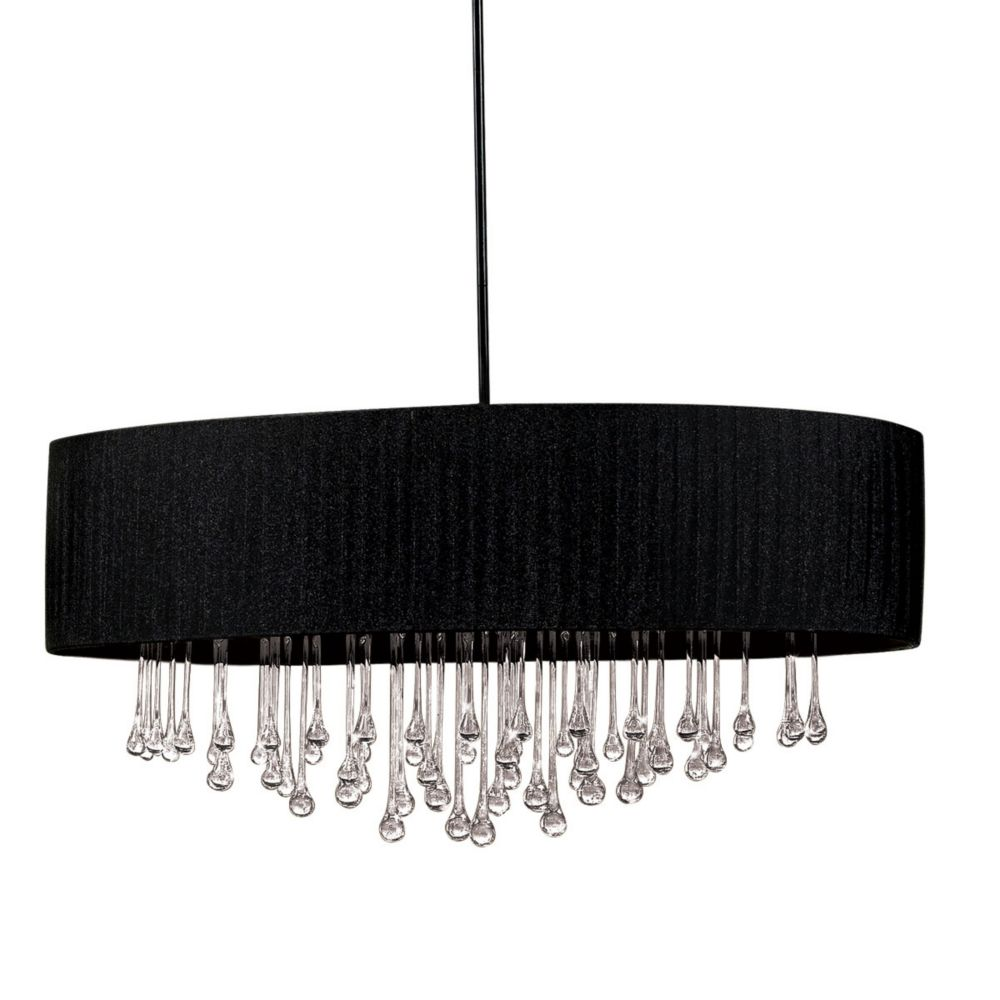 Penchant Collection 6-Light Black Oval Large Pendant