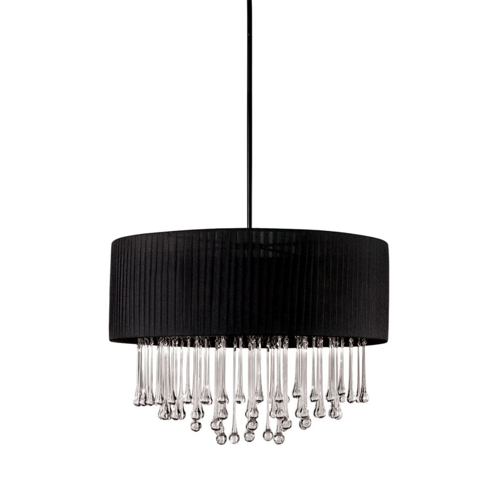 Penchant Collection 6-Light Black Round Large Pendant