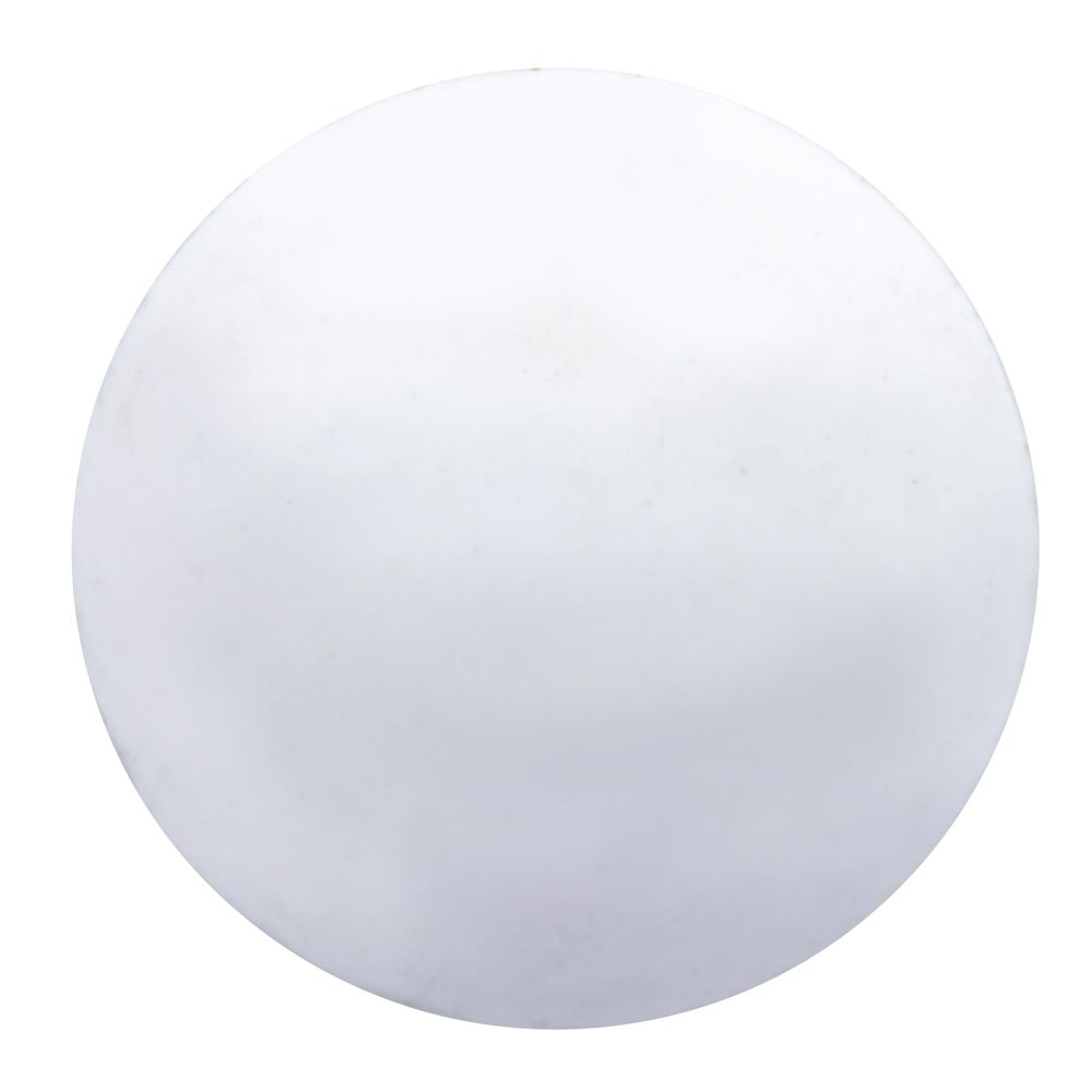 1/2 Inch. Hole Cover White Plastic