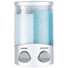 Duo 325mL Plastic Soap/Lotion Dispenser in Satin Silver