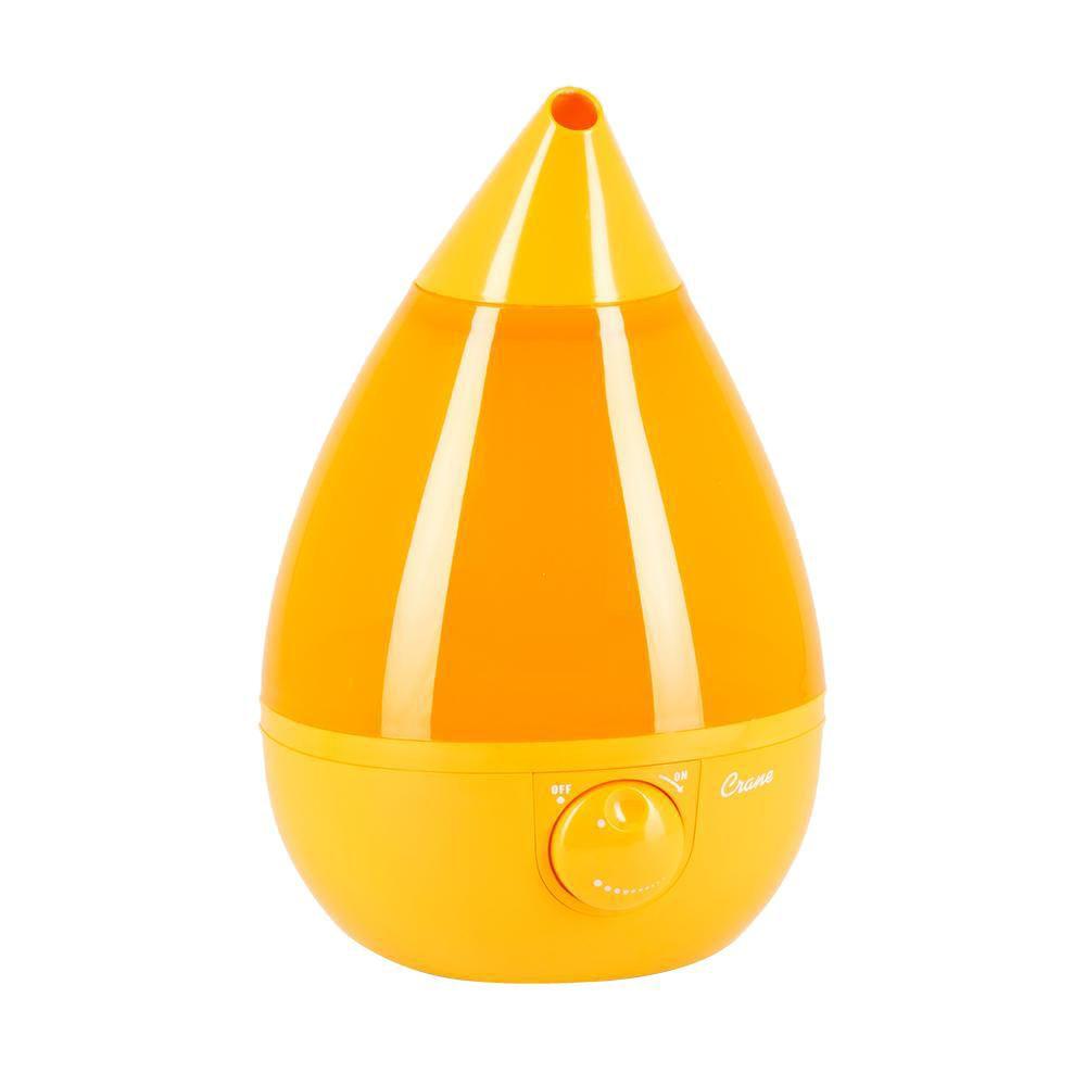 Ultrasonic Cool Mist Humidifier, Orange Drop Shape