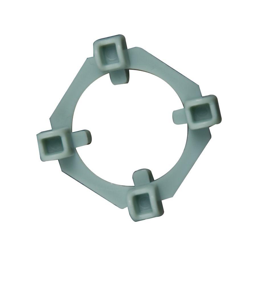 Cales d'Espacement Claires 2-en-1, 1/8 et 1/4 po., 100 cales et 50 anneaux
