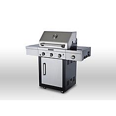 Barbecue au propane à 3bruleurs, avec brûleur latéral