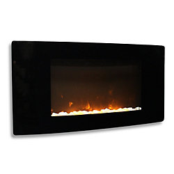Paramount Tavasi Curved Wall-Mounted Electric Fireplace