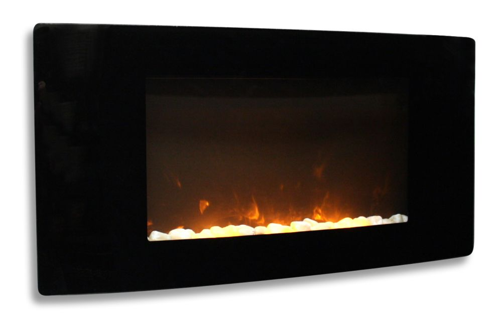Tavasi Curved Wall-Mount Electric Fireplace