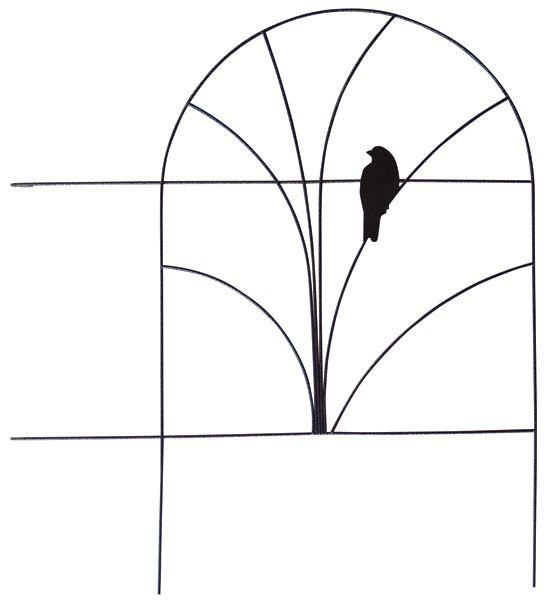 Wire Folding Fence - Bird Design 18 Inch x 5 Feet