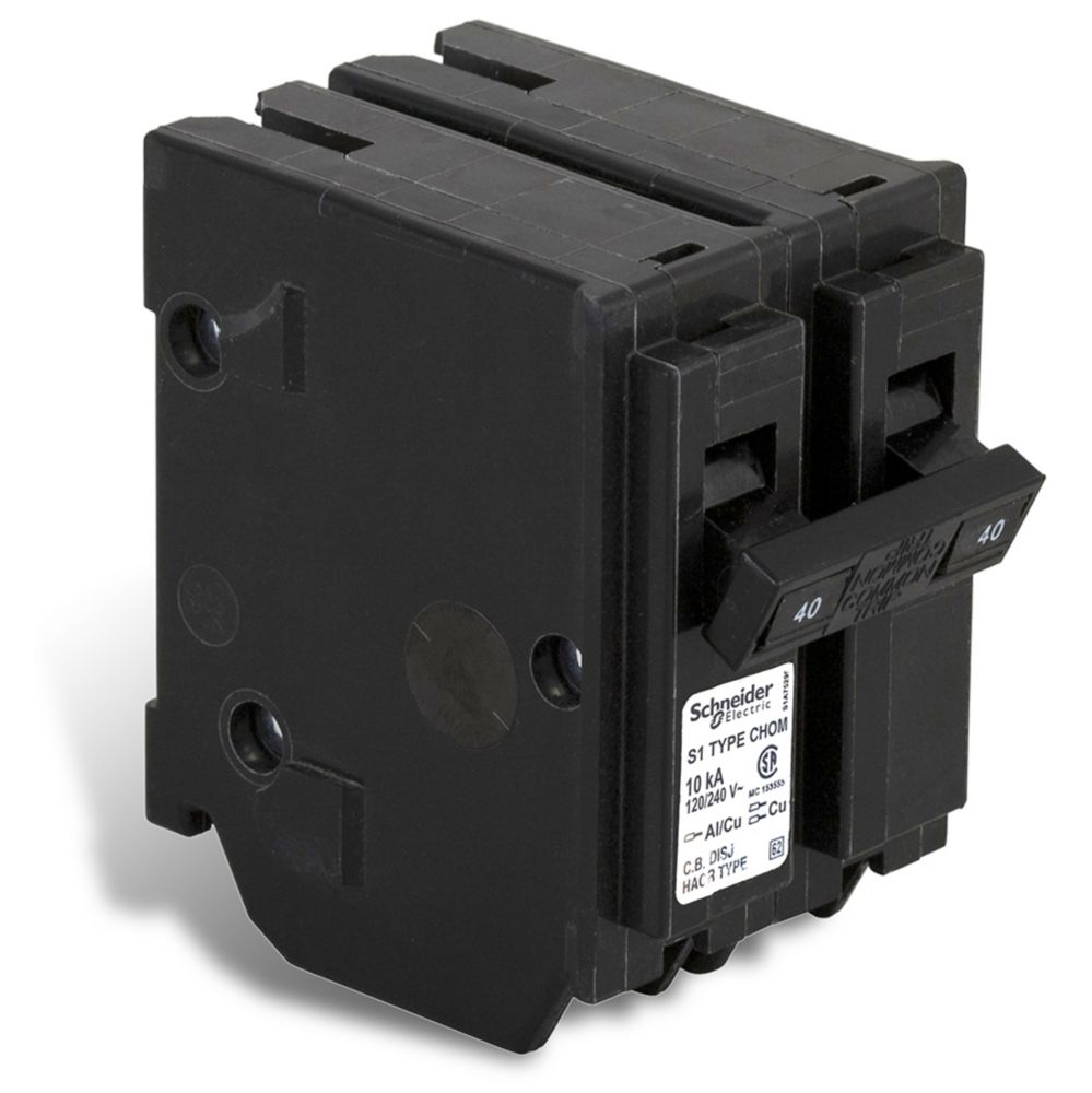 Double Pole 40 Amp Homeline Plug-On Circuit Breaker