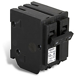 Schneider Electric - HomeLine Double Pole 40 Amp Homeline Plug-On Circuit Breaker