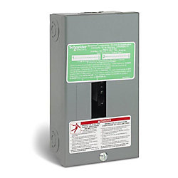 Schneider Electric - HomeLine 70 Amp Homeline Sub Panel Loadcentre with 2 Spaces, 4 Circuits Maximum