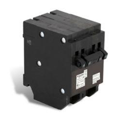 Schneider Electric Homeline Single Pole 15A(2) / Double Pole 15 Amp Homeline Quad Plug-On Circuit Breaker