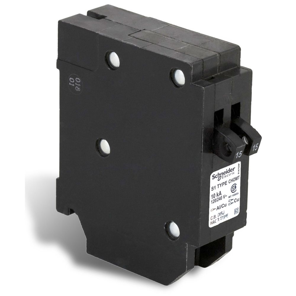 Single Pole 15-15 Amp Homeline Tandem Plug-On Circuit Breaker CHOMT1515CP Canada Discount