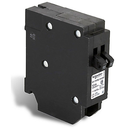 Schneider electric homeline single pole 15 15 amp homeline single pole 15 15 amp homeline tandem plug on circuit breaker sciox Image collections