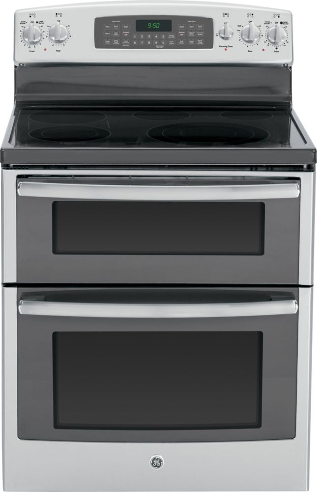 6.6 cu. ft. Free-Standing Electric Double Oven Convection Range in Stainless Steel