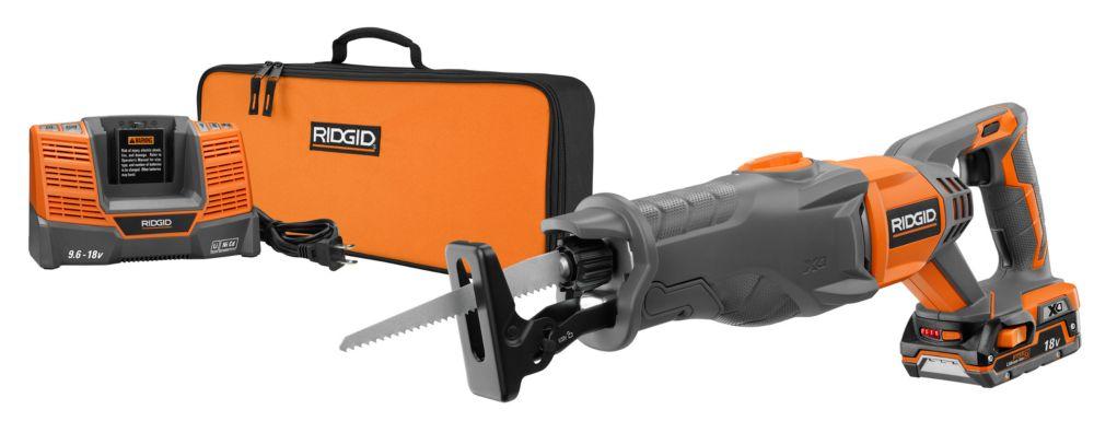 RIDGID 18V Reciprocating Saw Kit