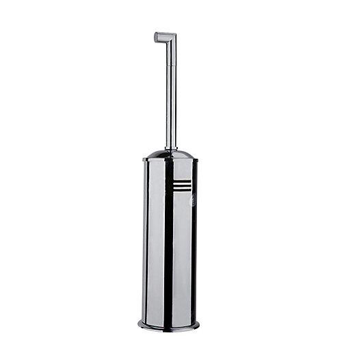 Squaretone Standing Toilet Brush and Holder in Chrome