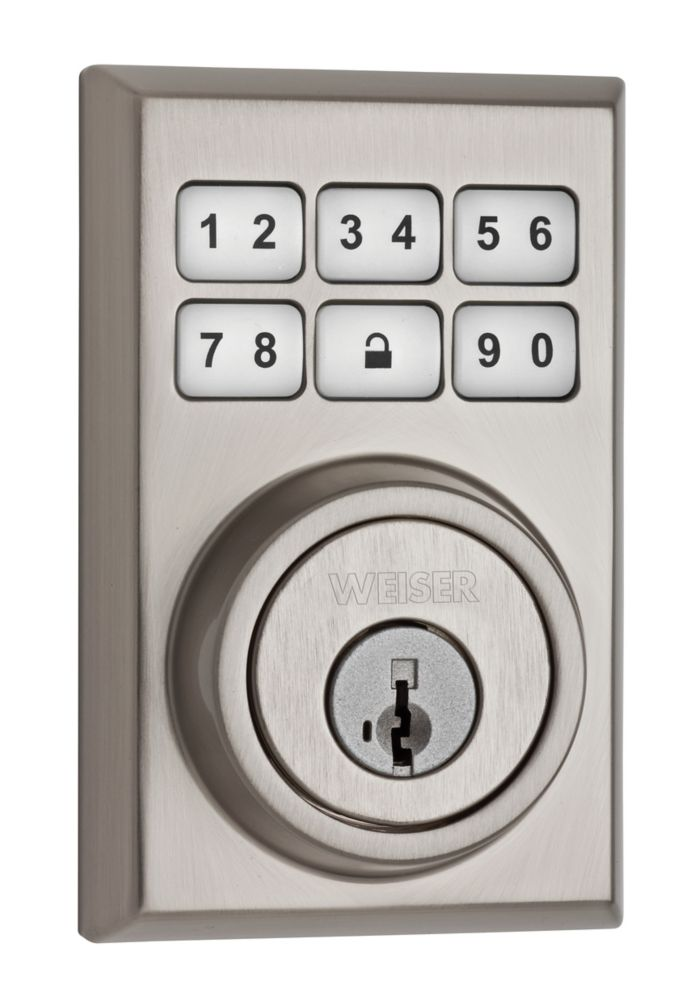 SmartCode Satin Nickel Keyless Entry Keypad Deadbolt