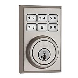 SmartCode Satin Nickel Keyless Entry Keypad Deadbolt