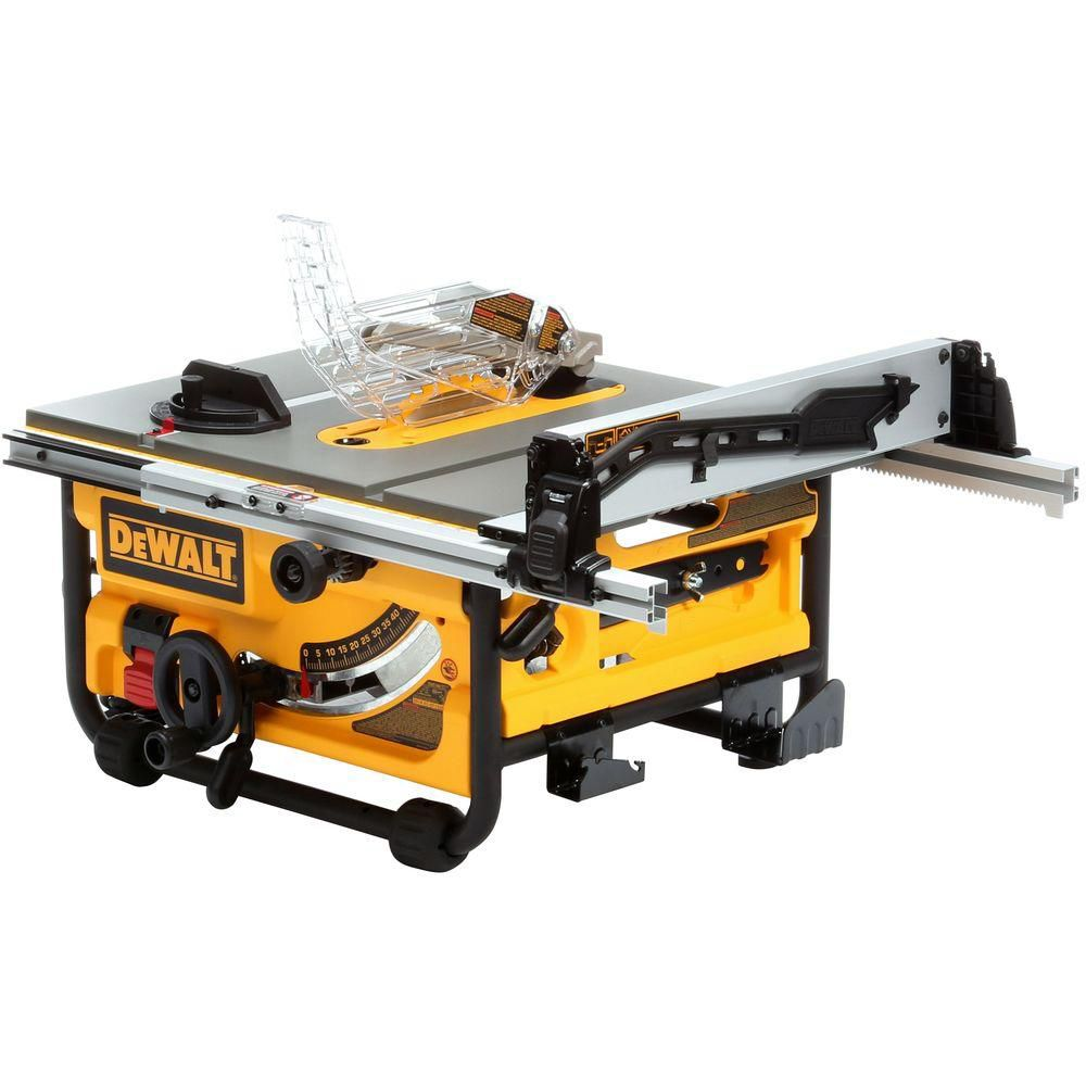DEWALT 10-inch Compact Job Site Table Saw with Site-Pro Modular Guarding System
