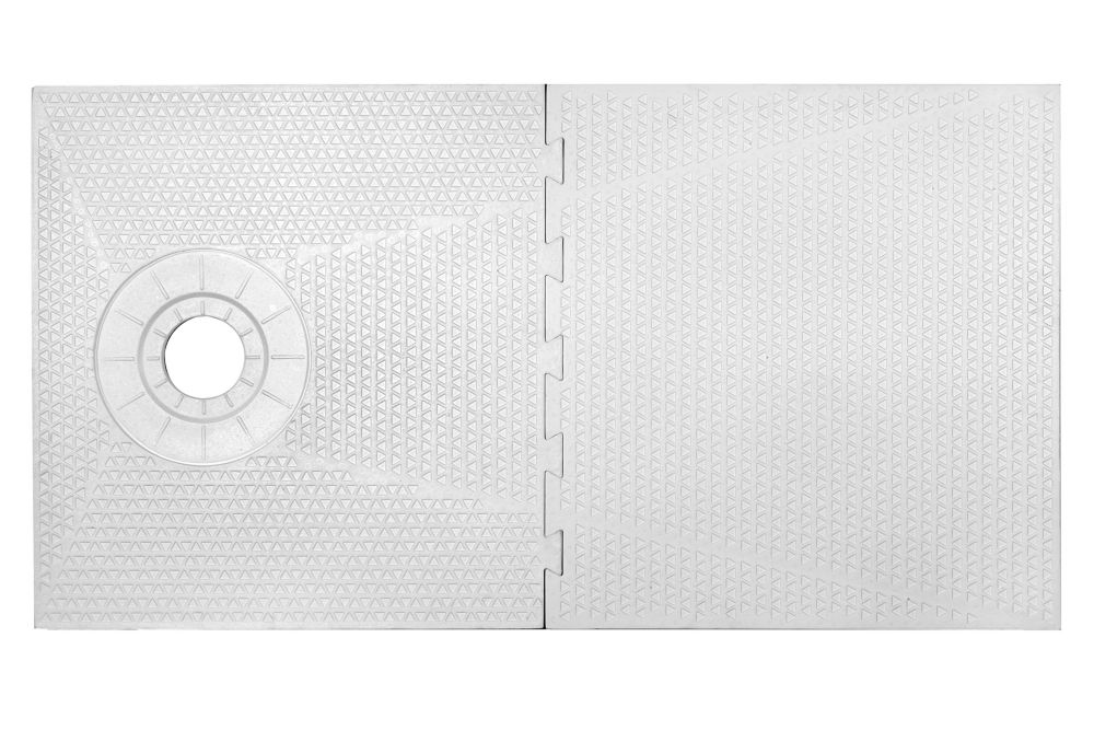 32 Inch X 60 Inch PROVA-PAN SHOWER COMPONENT - OFF SET DRAIN PLACEMENT