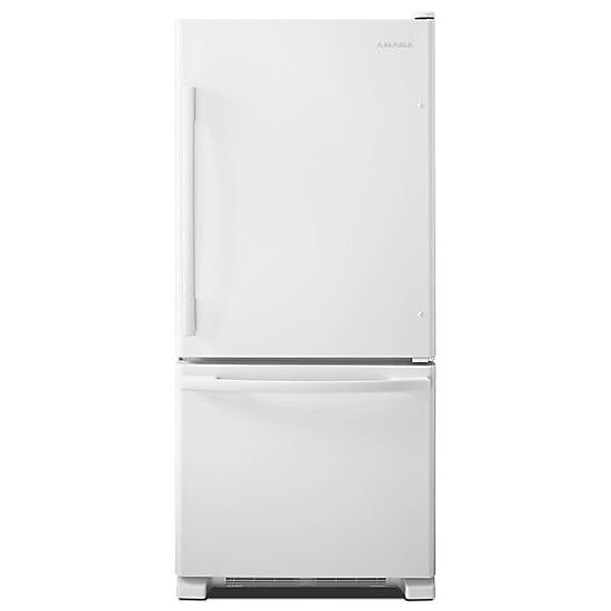30-inch W 18.5 cu. ft. Bottom Freezer Refrigerator in White