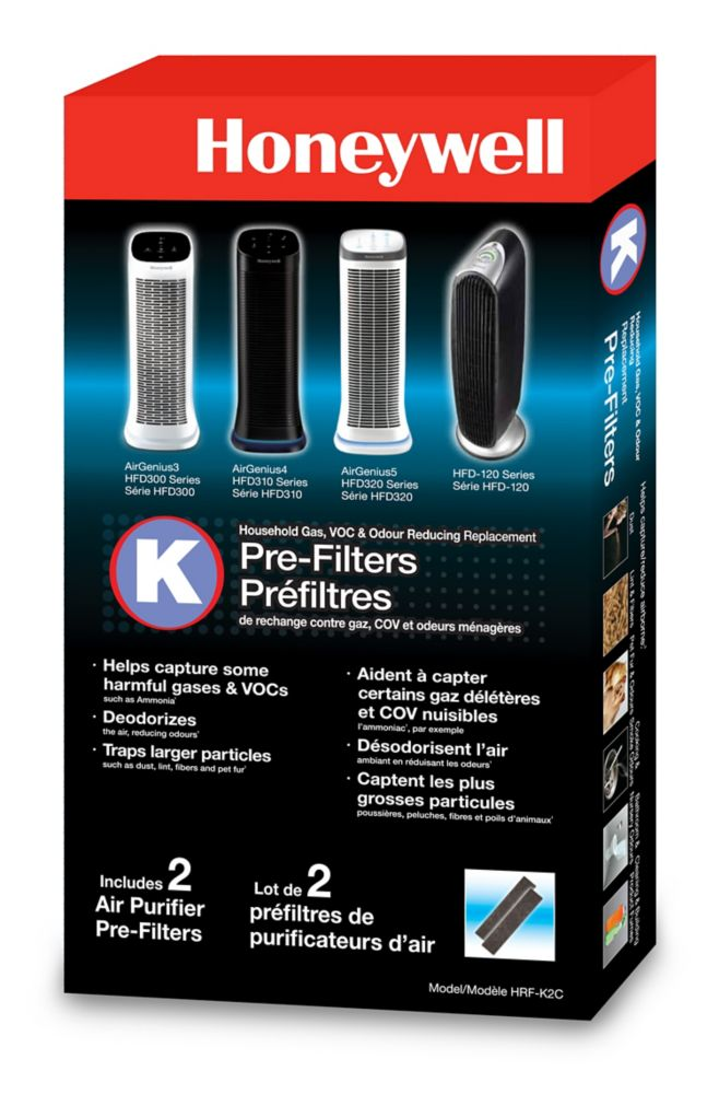 Household Odor & Gas Reducing Pre-Filter 2PK