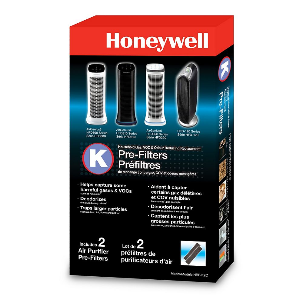 Honeywell Household Odor & Gas Reducing Pre-Filter (2-Pack)