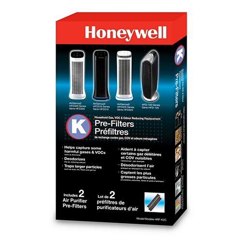 Honeywell Household Odor & Gas Reducing Pre-Filter (2-Pack)