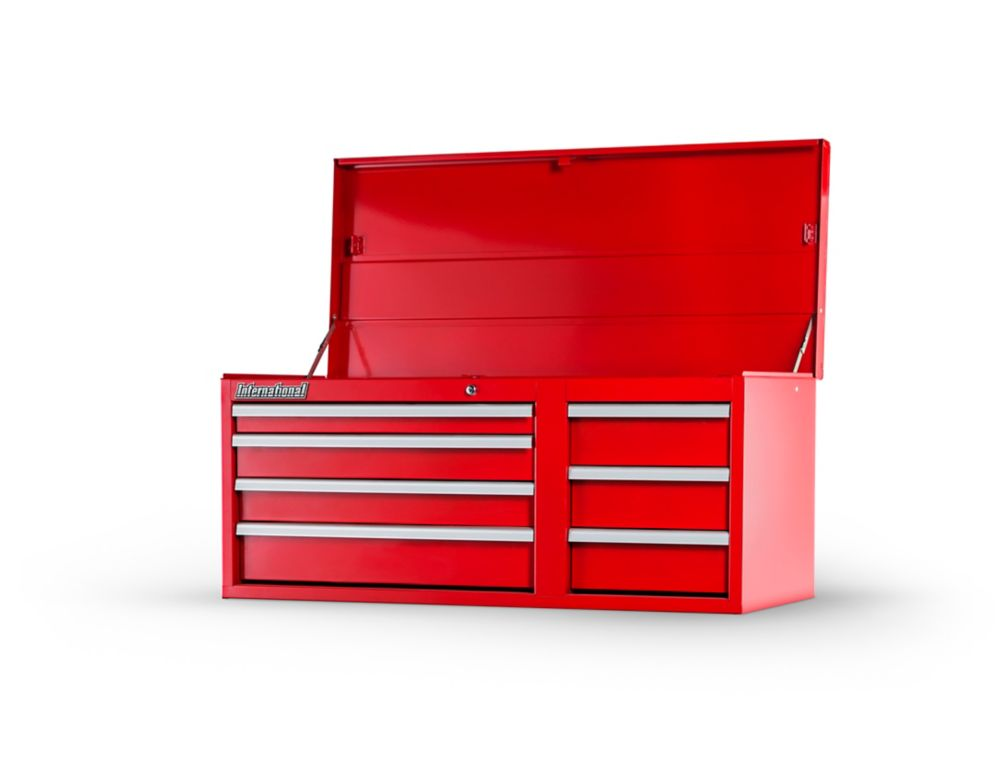"""Coffre 42"""" à 7 tiroirs, Red"""