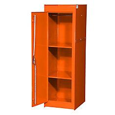 15 Inch Orange Two Shelf Extra Deep Full Length Side Locker