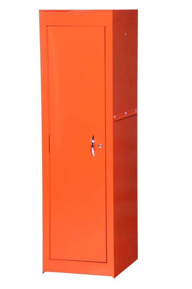 15 Inch Orange Two Shelf Full Length Side Locker