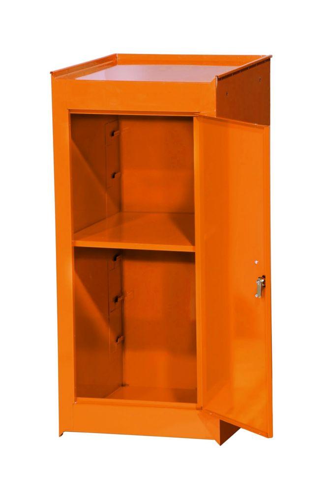 15 Inch Orange One Shelf Side Locker
