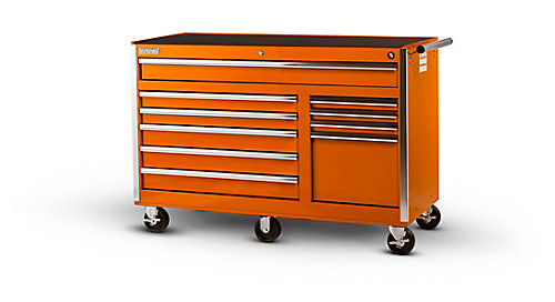 56 Inch 10 Drawer Tool Cabinet In Orange