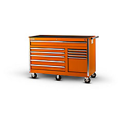 56-inch 10-Drawer Tool Cabinet in Orange