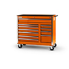 42 Inch 11 Drawer Orange Tool Cabinet