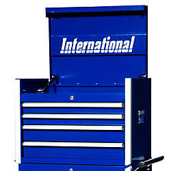 International 27 Inch Professional Series 4 Drawer Tool Chest, Blue