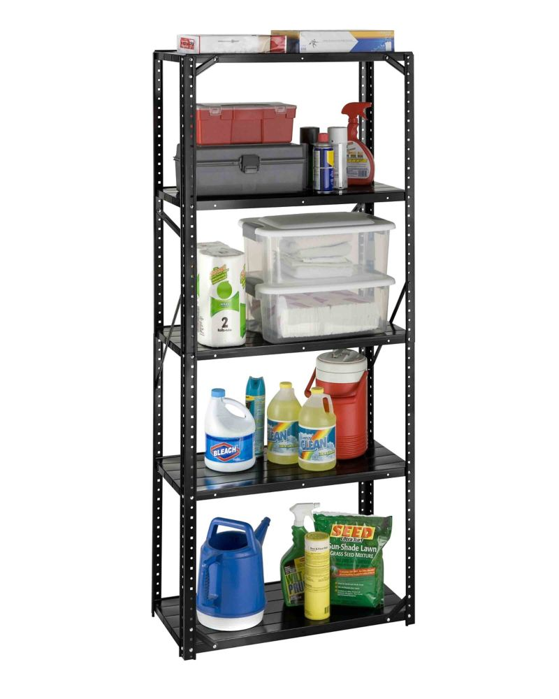 international 5 shelf all steel bolted storage rack the. Black Bedroom Furniture Sets. Home Design Ideas