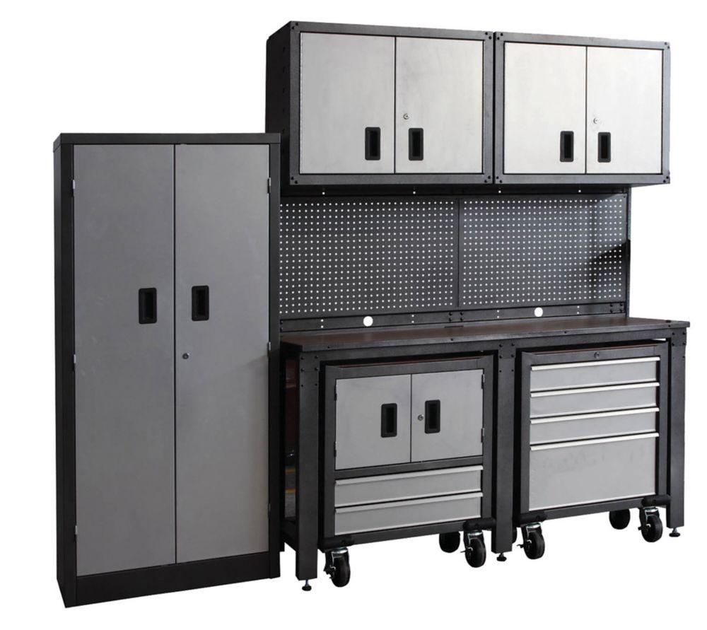 International syst me d 39 organisation pour le garage de 8 morceaux home - Systeme de rangement pour garage ...