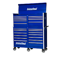 54 Inch Professional Chest and Cabinet, 22 Drawer Blue