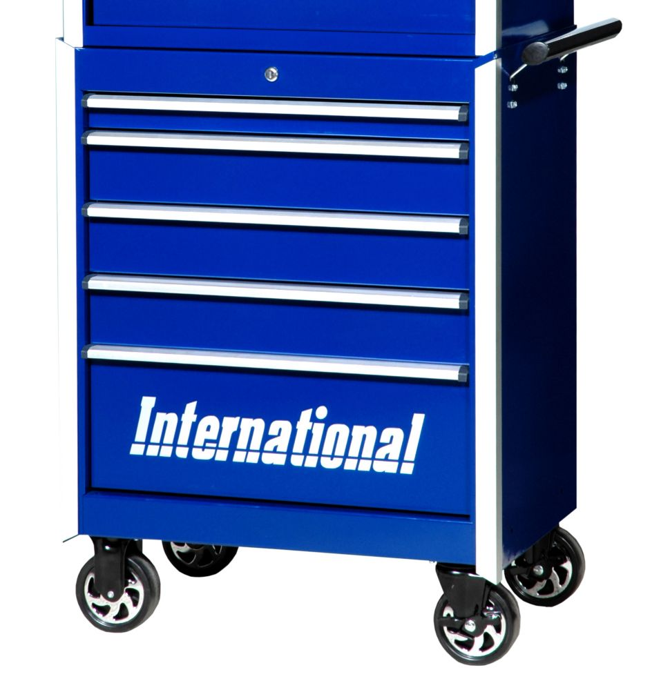 27 Inch Professional Series 5 Drawer Tool Cabinet, Blue