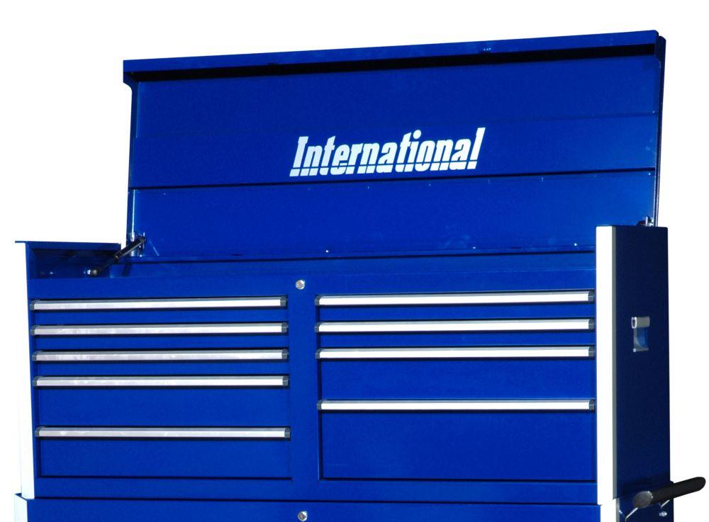 Série Professionelle, Coffre à 9 tiroirs, 54 po, bleu