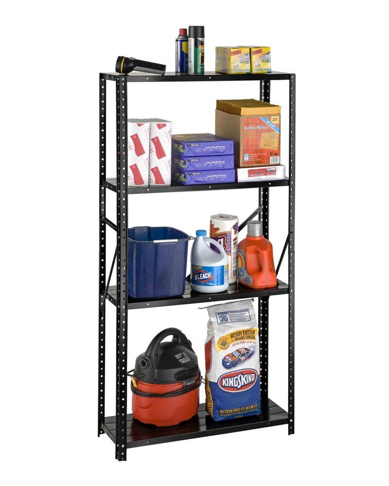 4 Shelf All Steel 4 Shelf Bolted Storage Rack