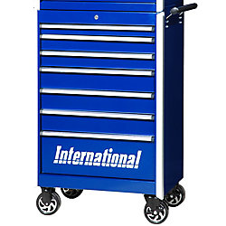 International 27 Inch Professional Series 7 Drawer Tool Cabinet, Blue