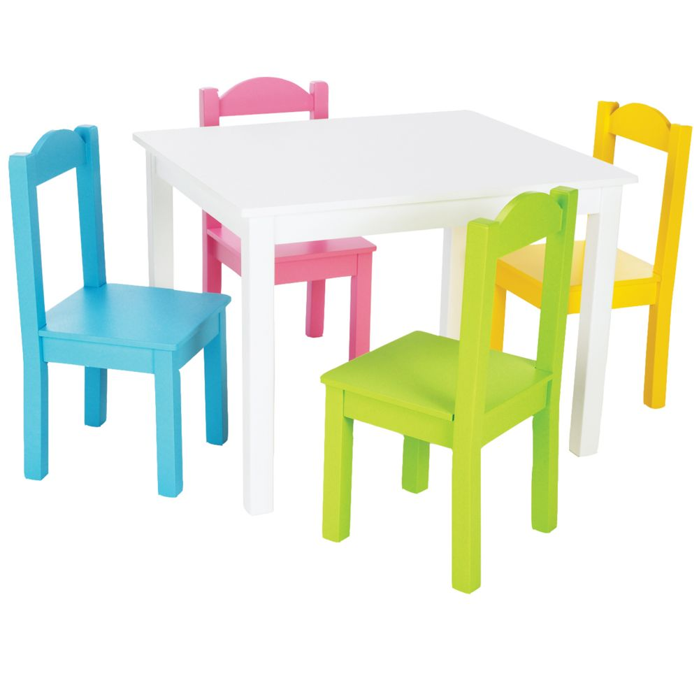 Table & 4 Chairs Pastel