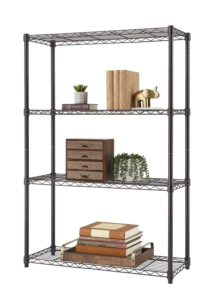 TRINITY 4-Tier NSF 36x14x54 Indoor Wire Shelving - Dark Bronze
