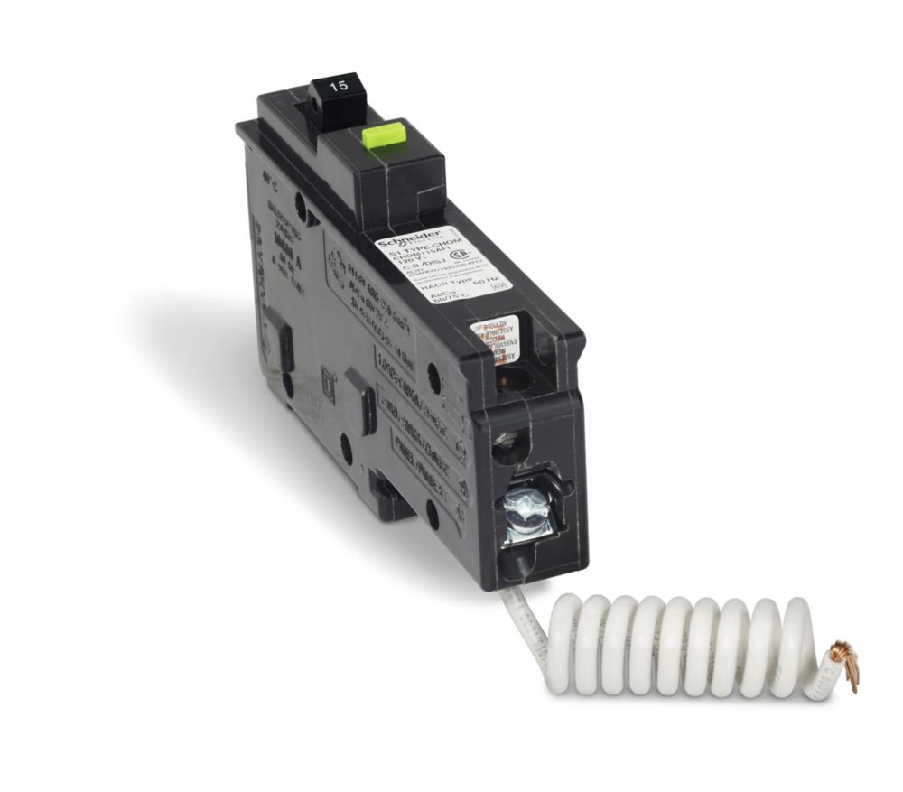 Single Pole 15 Amp Homeline Arc Fault Plug-On Circuit Breaker CHOM115AFI Canada Discount