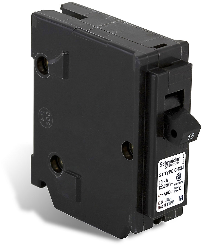 Schneider Electric - HomeLine Single Pole 15 Amp Homeline ...