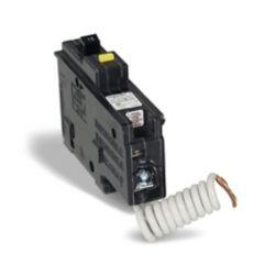 Schneider Electric Homeline Single Pole 15 Amp Homeline GFI Plug-On Circuit Breaker
