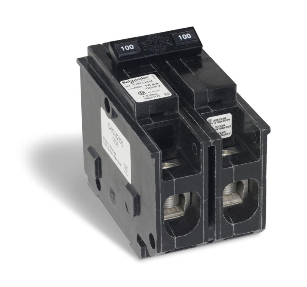 Double Pole 100 Amp Homeline Plug-On Circuit Breaker
