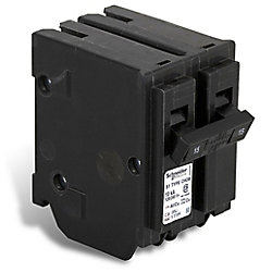 Schneider Electric - HomeLine Double Pole 15 Amp Homeline Plug-On Circuit Breaker